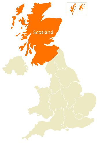 All of these names and words are related to Scotland, the birthplace ...